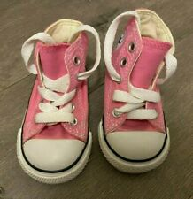Converse All Star Chuck HI 7J234 Canvas Pink Kids Baby Toddler Shoes Size 3