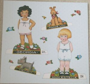 25 Pc Mary Englebreit Paper Dolls - Ann Estelle Georgia  Maggi Lou & Henry UNCUT
