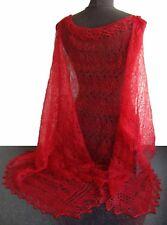 ETOLE ROUGE Chale rouge Idée Cadeau Femme, Etole rouge tricotee main Orenbourg