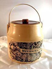 RARE Vintage Holt Howard USA Made Meerchaum's Segars Cigar Tobacco Earthen Jar