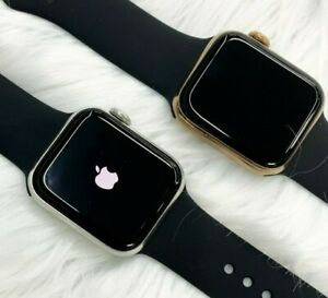Apple Watch Series 4 40mm or 44mm Gold or Silver Stainless Steel Case GPS & LTE