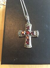 """Vintage Sterling Silver Cross Pendant With 16"""" Chain"""