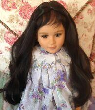"*FLASH SALE* TWO PAULETTE Dk Brown Doll Wigs, Sz 14-15 Fits My Twinn 23"" + More"