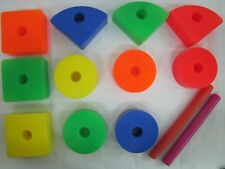 VINTAGE Fisher Price 1964 BLOCKS RODS DOWELS for ABC CREATIVE COASTER #987 Lot 3