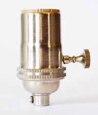Satin Nickel Lamp Socket - Light Socket - Pendant - Rewire Lamp Cord