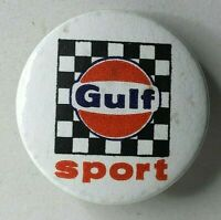 1960's Gulf Oil motorsport Pin Badge advertising 31 mm diameter