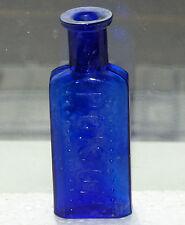 RARE Canadian cobalt blue 1oz? POISON bottle BIMAL *FREE SHIPPING!