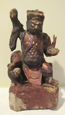 Antique Wooden Shrine Figure - CHINA - 18th Century or Earlier