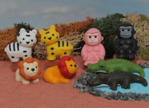 Novelty IWAKO Japanese Puzzle Eraser Rubbers - IWAKO Safari Animal Erasers