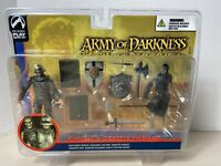 """Knight & Deadite Pikeman Action Figure 2-Pack Palisades Toys 4"""" Army Of Darkness"""