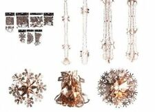 ROSE GOLD CHRISTMAS FOIL HANGING CEILING DECORATION GARLANDS BELL STAR SNOWFLAKE