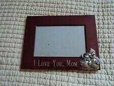 """Picture Photo Frame ~ 4x6 ~,Tabletop """"I Love You"""" Mom, ~ Snowmen in corner"""