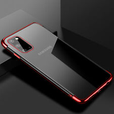 For Samsung Galaxy S20 Ultra S20Plus Soft Plating TPU Slim Clear Back Case Cover