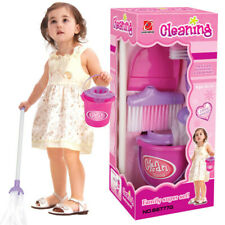 Kids Household Cleaning Set Pretended Broom Dustpan Brush Toy Kid Christams Gift