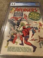 AVENGERS #6 CGC 4.5 1ST APP. BARON ZEMO & MASTERS OF EVIL1964- MARVEL COMICS