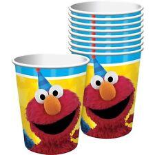 SESAME STREET Stars 9oz PAPER CUPS (8) ~ Birthday Party Supplies Beverage Drink