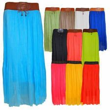 Full Length Polyester Casual Maxi Skirts for Women