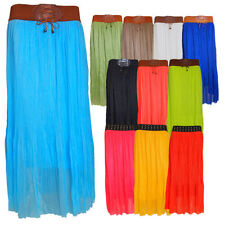Polyester Maxi Full Length Skirts for Women