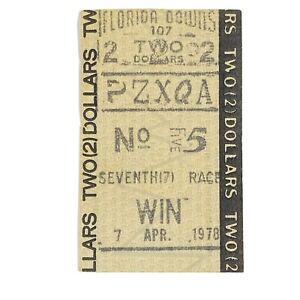 1978 Florida Downs Tampa Bay Horse Racing Ticket Bet Win Vintage $2