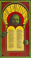 """ALLEN GINSBERG """"WHO BE KIND TO"""" 1967 SAN FRANCISCO PRINT DESIGNED BY WES WILSON"""