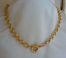 GF 9ct Gold Belcher Bolt Ring Solid Necklace 9k GF