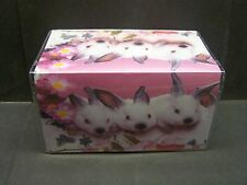 CUTE BUNNYS AND DAISYS   VINYL CHECKBOOK COVER