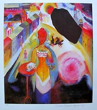 Wassily Kandinsky LADY IN MOSCOW Estate Signed Limited Edition Giclee Art
