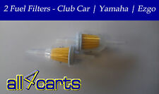 Two | Golf Cart Fuel Filters | Club Car | Ezgo | Yamaha | In line Fuel Filter