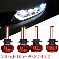 4pcs 9005 HB3+9006 HB4 560W 44000LM LED Headlight Bulb Light Kit Xenon white
