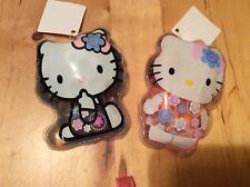Entièrement neuf sous emballage Neuf Officiel Sanrio Hello Kitty 3D éponge & 2 X 60 ml en forme de Gel Douche Dosettes