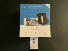 Ring Spotlight Security Surveillance Camera Wireless Battery HD Black Alexa NEW