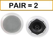 "MCM AUDIO 50-14000 4"" 8 Ohm Two-Way Ceiling Speaker Pair - 20W RMS/ 40W Pea"