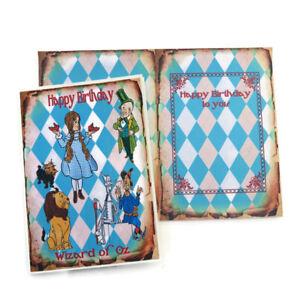 NEW Card Wizard of Oz Birthday Vintage-Dorothy-Tin Man-Scarecrow-Lion-Fairytale