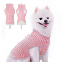 Small Dog Knitted Sweater Pet Puppy Girls Female Chihuahua Clothes Pink Apparel