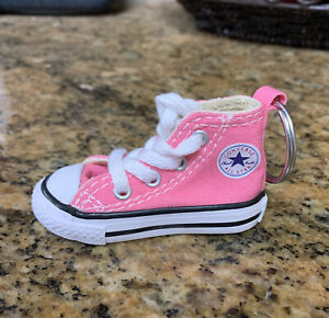"""New PINK Converse Keychain Key Ring """"ALL STAR CHUCK TAYLOR PATCH SNEAKER"""""""