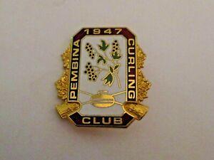VINTAGE PEMBINA WINNIPEG MB CANADA CURLING CLUB SPORTS CURLING PIN ~ L@@K ~