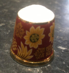 Beautiful William Morris Sunflower Thimble