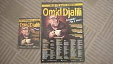 OMID DJALILI SIGNED POSTER AND FLYER