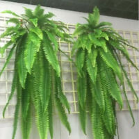 Green Artificial Fern Bouquet Silk Plants Fake Persian Leaves for Home Decor