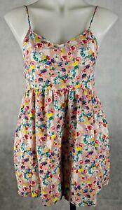 Valley Girl Women's Romper Playsuit Pink Floral Shoestring Adjustable Straps