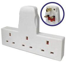3 Way Gang Multi Socket Power Electric Extension Leads Mains Plug Adaptor