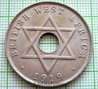 BRITISH WEST AFRICA GEORGE V 1919 H ONE PENNY