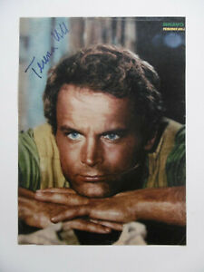Terence Hill Autogramm signed A4 Magazinbild