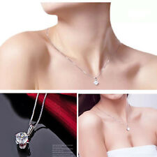 Women Crystal Necklace Chain Silver Plated Fashion Plated Pendant Hot Sale