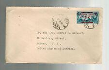 1929 Beirut Lebanon cover to USA AMerican University