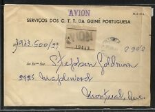 Portugal  Guine   large registered official  cover  to  Canada      MS0124