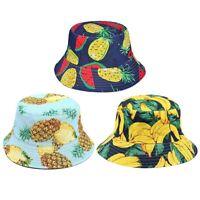 Chapeau de Seau à Fruits Chapeau de Seau à Fruits RéVersible pour Hommes Fe R1M6