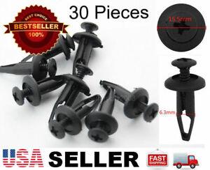 30 Plastic Rivet Fastener Clip Retainer Screw For Chrysler 6502871 Ford N803946S