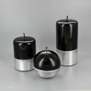 Black Silver Candles