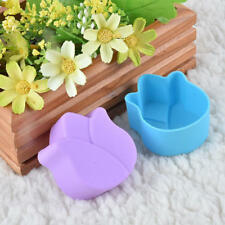 2pcs Lotus 5cm Fondant Mold Candy Resin Silicone DIY Soap Cake Mould Muffin Cup